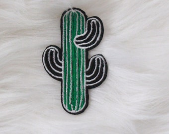 Green Cactus Tumblr DIY Iron-on Embroidered Patch!