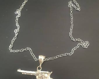 Gun Necklace - 80's