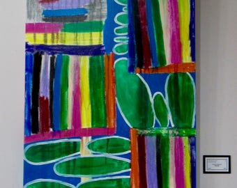 """Large Abstract Painting """"Playful"""""""