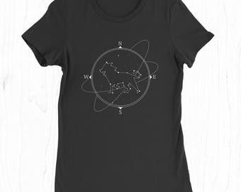 Lion Constellation Tee - Leo Sign T-shirt - Zodiac Shirt - Birthday T-shirt for Women - Astronomy Gifts - Space T-shirt