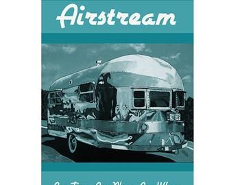 Retro Airstream Camper Original Graphic Poster