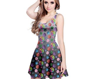D20 Dress - Gamer Dress Dress Skater Dress Cosplay Dress Comicon Dress Dice Dress RPG Dress Roleplaying Game Dress 20 Sided Die Dress