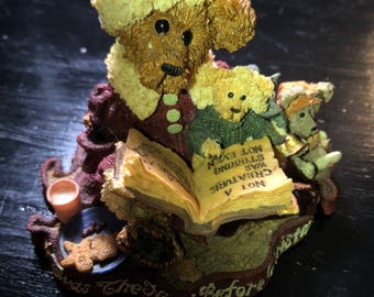 Boyds Bears & Friends The Bearstone Collection, Alexis Bearinsky, The Night before Christmas, Vintage 1998