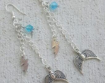 Ravenclaw inspired dangle earrings
