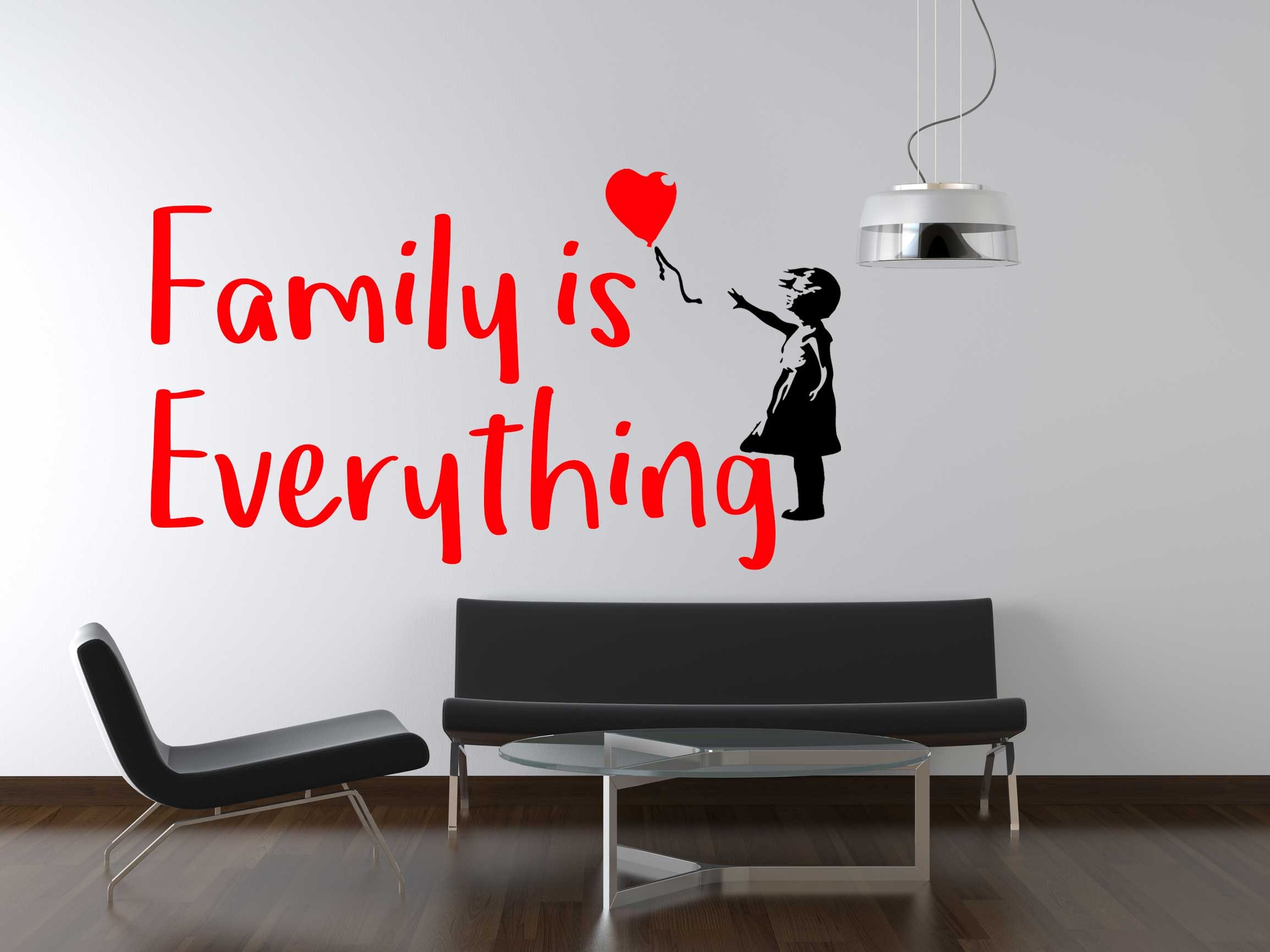Family Is Everything Wall Sticker Family Quote Vinyl Family Decal ...