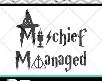 Mischief Managed svg, Silhouette svg, Printable svg, Layered Hat, Files For Cricut svg, Files for Silhouette svg, png,
