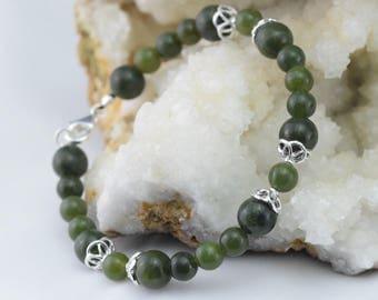 Bracelet beads and Jade Néphrite