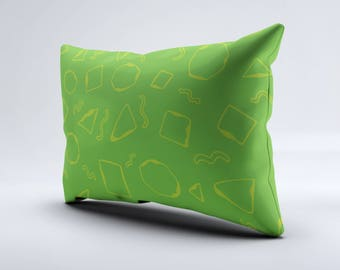 Geometric Lumbar Pillow, Throw Pillow, Pattern Pillow, Rectangular Pillow, Decorative Pillow, Throw Pillows, Pillow, Pillows