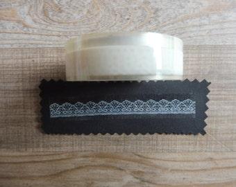 Tape 10 cm 1.5 m transparent white dress with lace details