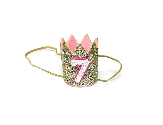 7th Birthday Crown || Any Age || Dog Birthday Hat || Pet Party || Birthday Crown