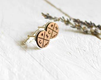 Wedding Cufflinks - Groomsmen Gifts - Groom Cufflinks - Wedding Date Cufflinks - Wood Cufflinks Groom Gift - Custom Personalized Cufflinks