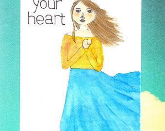 Postcard: Feel your heart