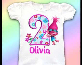 Trolls Birthday Shirt / 1st, 2nd, 3rd, 4th, 5th Birthday Shirt / Birthday Girl Shirts / Princess Poppy Birthday Shirt / Trolls party shirt