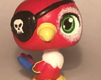 Pirate Polly Parrot OOAK LPS Custom