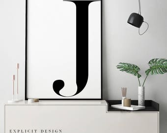 Large Letter J For Wall Letter J Print  Etsy