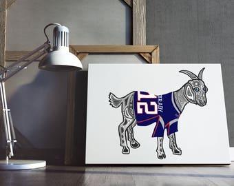 PRINTABLE- Tom Brady GOAT- TB12- New England Patriots Print- Tom Brady Art- Football Print- NFL Print- Patriots Poster - Digital Download
