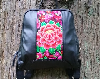 Vegan Backpack, Faux Leather Backpack, Pleather Backpack