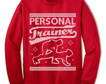 Personal Trainer Ugly Christmas Sweater. Gift. Ugly Sweater. Workout Sweater. Jumper. Ugly. Pullover. Christmas.