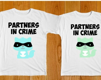 Matching Shirts - Partners in Crime - Cousin Shirts - Boys Matching Shirts - Brother Shirts - Friend Shirts - Twin Shirts - Sister Shirts