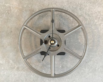 Repurposed Vintage Film Reel Clock