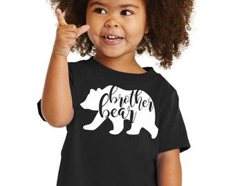 "100% Cotton ""Brother Bear"" Toddler Cotton Tee a RealLifeOutfits favorite family design. Goes with Papa, Mama, Sister & baby Bear"
