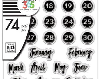 Dates Clear Planner Stamps - MAMBI Happy Planner