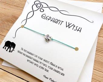 Elephant Bracelet Friend Wish Bracelet Elephant Wish Bracelet Elephant Jewelry Elephant Charm Friendship Bracelet String Wish Bracelet