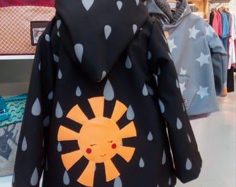 Raincoat child 4t Sun Waterproof Children's Coat, 4 years sun