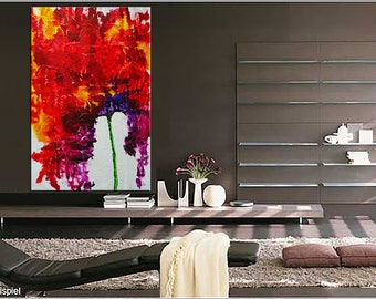 "XXL BlossomLoveAffair  Original and unique large art 40"" x 60""  texture modern canvas handpainted"