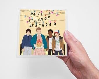 Stranger Things Card, Original Creation, Birthday, TV Show, Funny, Love, Geek, Pop Culture, Cute, Gift Woman, Man, Anniversary, Girlfriend