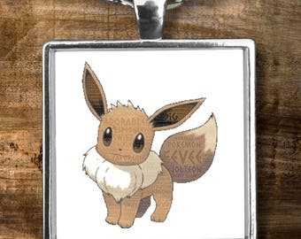 """Necklace Pokemon EEVEE The Cutest Of Them All! EEVEE is Adorable Pokemon on this 22"""" Silver Necklace With Charm!"""