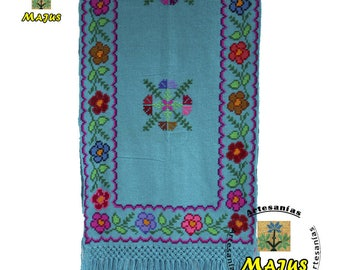 Scarf, shawl or Pashmina Embroidered handmade handmade, quality, Lady