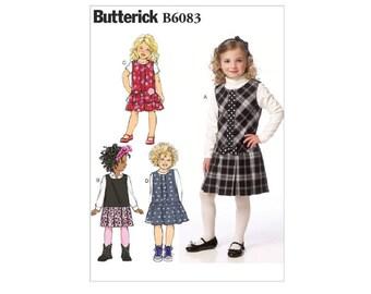 Butterick 6083 - Children's/Girls' Drop-Waist Jumpers [Out of Print]