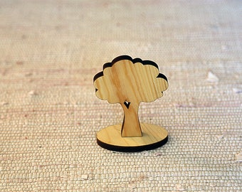 Wooden tree. Materials for making