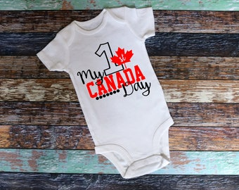 My First Canada Day Shirt, bodysuit or T-Shirt - Infant toddler Shirt, funny shirt, Canada Day, First Canada Day, Canada
