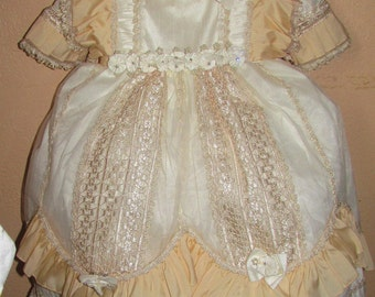 Vintage Baptism Gown christening dress for baby girl