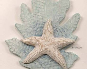 Reef Starfish Wall Aqua C076