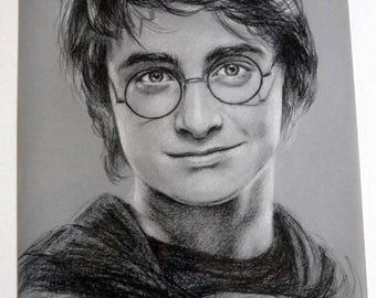 Poster portrait of Daniel Radcliffe (Harry Potter) print 30 x 40 cm