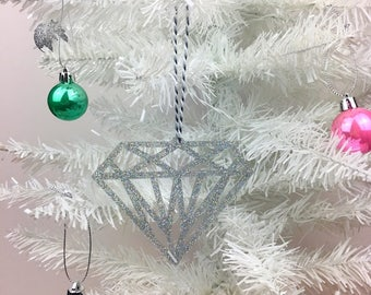 Geometric Christmas Tree Decoration, Diamond Tree Decoration, Christmas Decoration, Sparkly Christmas Decoration, Geometree, Glittery