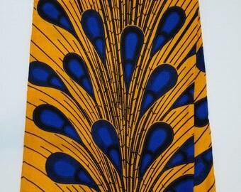 Yellow & Blue Rainburst African Fabric; Ankara Fabric; African Clothing; African Print; African Headwrap; Ankara Fabric in yards; Ankara