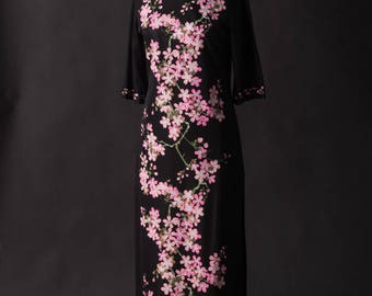 Alfred Shaheen Chengosam Cherry Blossom Dress