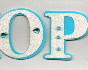 Hope Title 3D Scrapbook Stickers Embellishments Cardmaking Crafts Forever In Time