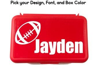Personalized School Box - Sports Pencil Box - School Supply Box - Art Supply Box - School Supplies - Back to School Gift - Custom Crayon Box
