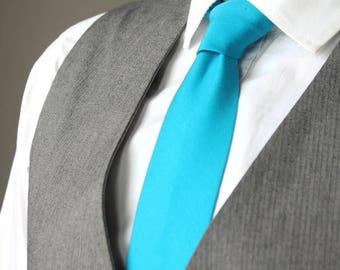 Turquoise men's Tie Men's skinny tie Ties Necktie for Men 005tc