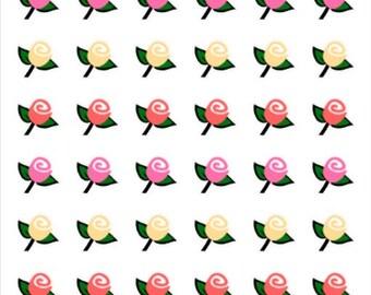 Rose | Flower | 108 | Planner Sticker | Kikki-K | Happy Planner | Erin Condren