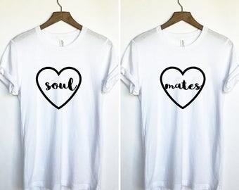 Bestie Duo Shirt, Bestie Duo Tee, Bff Tee Set, Matching Duo Shirts, Soul Sister Duo Shirts,  Duo Tees, Bff Shirt Set, Set Of Shirts Bff