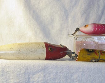 Group of three vintage fishing lures
