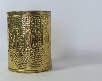 Vintage Brass Matches Container/Holder