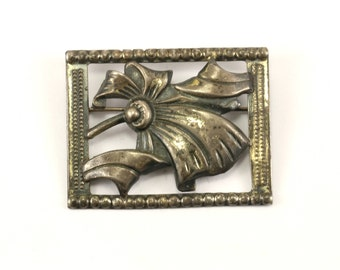 Vintage Blossom Design Pin/Brooch 925 Sterling Silver BB 969