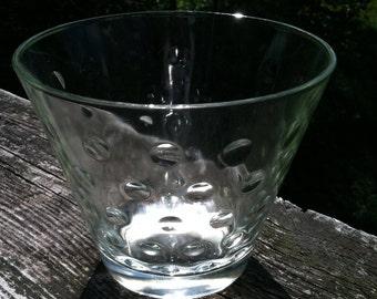 Chatanooga Glass Co. Bubble glass bowl